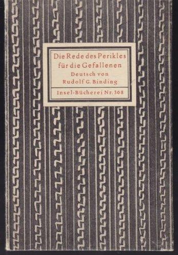 Insel-Bücherei Nr. 368: Die Rede des Perikles für die Gefallenen.