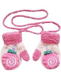 SAMGU Warm Fleece Baby bébé Garçons Filles Hiver Chaud Des gants Mitaines Nouveau-nés couleur Rose rouge