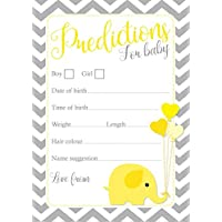 Baby Shower Predictions - Chevron designs - Pack Of 16 - Available In 3 Different Colours