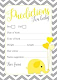 Baby Shower Predictions - Chevron designs - Pack Of 16 - Available In 3 Different Colours (Yellow (Without envelopes))