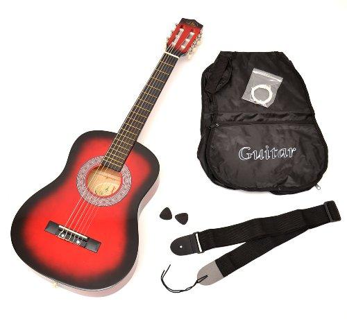 TS-Ideen 5209 Guitare acoustique 1/2 avec Housse + Sangle + Jeu de...
