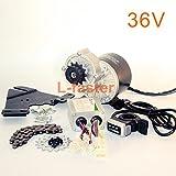 350W Vélo électrique Kit moteur gauche Kit moto Kit vélo de montagne Kit de moteur électrique personnalisé Pour vélo suspendu Wuxing thumb throttle (36V350W)