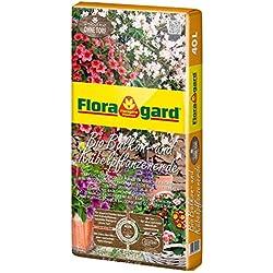 Floragard Bio Balkon- und Kübelpflanzenerde ohne Torf 40 L, torffreie Spezialerde mit Tongranulat und Bio-Dünger