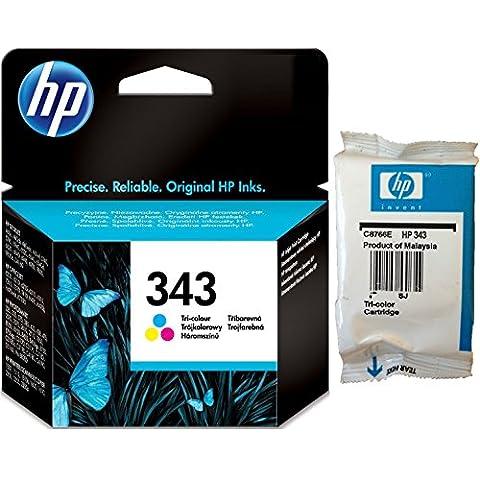 HP 343 Tri-colour Inkjet Print Cartridge with Vivera Inks - Cartucho de tinta para impresoras (Cian, magenta, Amarillo, 20 - 80%, 4 32, 0 - 40 °C, 40 g, 15 - 35 °C)