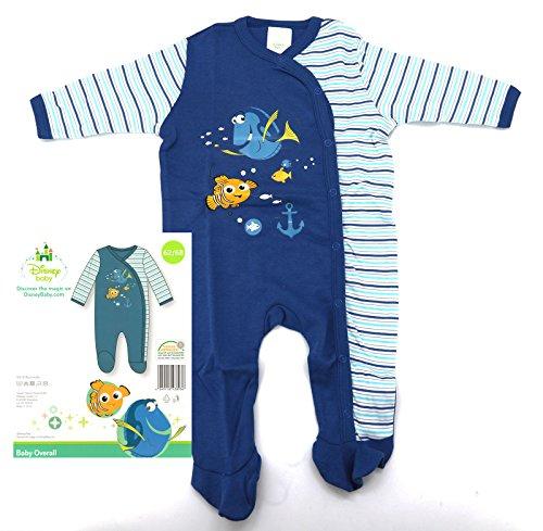 heimtexland Disney Baby Strampler in blau Gr. 62-68 langarm mit Füßen Findet Nemo Dorie Jungen 100% Baumwolle hautfreundlich Ökotex geprüft Typ512 -