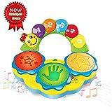 ACTRINIC Baby Spielzeuge für 6 bis 12 Monate Tragbares Musikspielzeug für Babys Handtrommel Musikinstrument Spielzeug Frühpädagogisches Musik/Licht/lustige Töne Baby Spielzeug für 1 2 3 4 Jahre alt