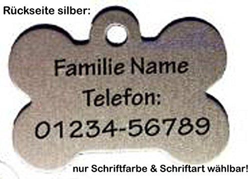 Anhänger fürs Halsband Knochen: mit Motiv Hunde (48 versch. Rassebilder) + Wunschtext wählbar! zweiseitig personalisierbar - 4