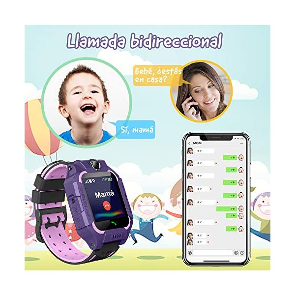 NAIXUES 2020 Smartwatch Niños, Reloj Inteligente para Niños Impermeable 67 con Linterna, SOS, LBS, Comunicación… 4