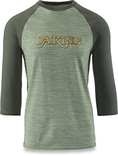 DAKINE 2018 Roots Ragaln Loose Fit 3/4 Sleeve Surf Shirt Surplus Heather 10001665 Sizes- - Medium - Sleeve Loose Fit Shirt