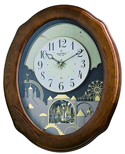 Rhythm clocks joyful timecracker oak magic motion orologio