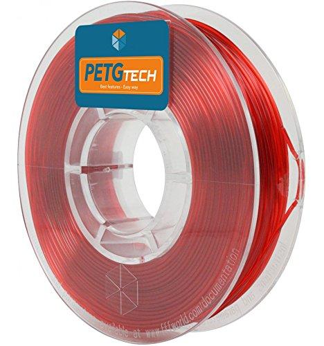 FFFworld 250 g. PETG Tech Rojo 1.75 mm. - Filamento PETG de Alto Rendimiento para Impresora 3D - petg Filament