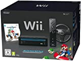 Nintendo Wii'Mario Kart Pack' - Konsole inkl. Mario Kart, Wii Wheel, Remote Plus Controller, schwarz