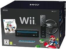 "Nintendo Wii ""Mario Kart Pack"" - Konsole inkl. Mario Kart, Wii Wheel, Remote Plus Controller, schwarz"