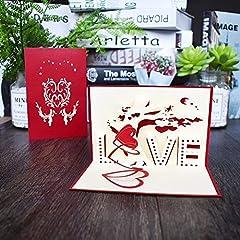 Idea Regalo - Love Valentine - Biglietto di auguri pop-up per fidanzamento, matrimonio, San Valentino
