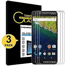 Huawei Nexus 6P Protector de Pantalla, NEARPOW [ 3 Unidades] Cristal Templado Protector de Pantalla para Huawei Nexus 6P, Vidrio templado con [9H Dureza] [Alta Definicion] [Sin burbujas]