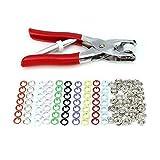 150pcs set de metálicos corchetes botones a presión 10 colores + alicate prensa para broches, de LAOYE