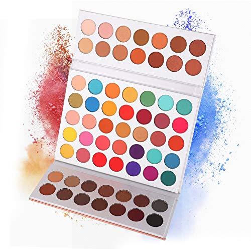 ARTIFUN Matte Nude Lidschatten Palette, Nat¨¹rliche Schimmer Lidschatten Pigment Pulver Bronzer Paletten (63 Colors)