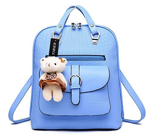Imagen de tibes bolsa mujer mini  impermeable  de cuero  de estudiante cielo azul