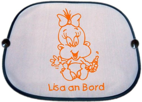 Baby protezione solare parasole con motivo 105e nome del bambino/in 5colori di stampa