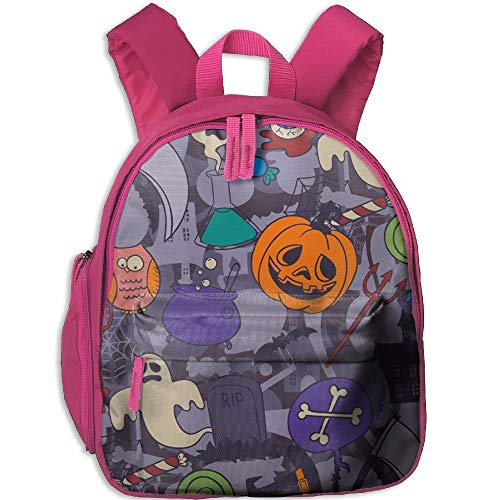 Crazy Halloween Holiday Double Zipper Waterproof Children Schoolbag with Front Pockets for Teens Boy ()