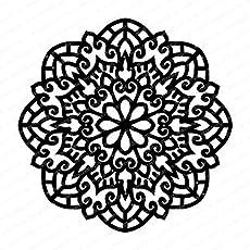 """Mudra Stencils - Mandala- 6""""x6"""" for DIY Home Decors, Crafts & Mixed Media"""