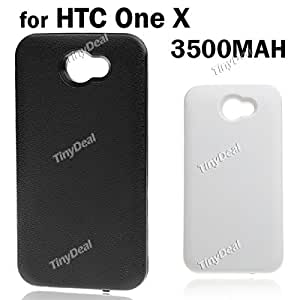 Rechargeable 3500mAh External Backup Battery Back Case for HTC One X MBT-100308 - Black