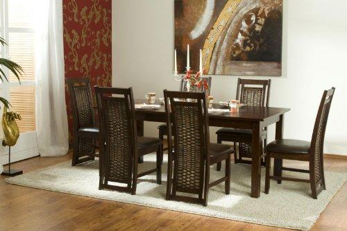 massivum Oxaca Tischgruppe Holz braun 90 x 180 x 75 cm