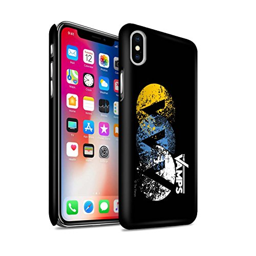 Offiziell The Vamps Hülle / Matte Snap-On Case für Apple iPhone X/10 / Weiß/Schwarz Muster / The Vamps Graffiti Band Logo Kollektion VVV