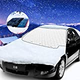 Bigmeda Frontscheibenabdeckung, Auto Windschutzscheibenabdeckung Magnet Fixierung Faltbare Auto Frontscheibe Abdeckung gegen Schnee, EIS, Frost, Staub, Sonne UV-Strahlung (147x116cm)