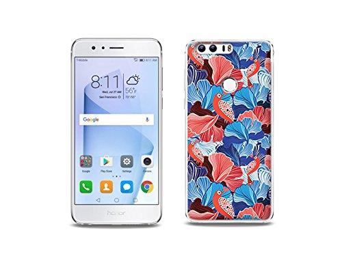etuo Huawei Honor 8 Handyhülle Schutzhülle Etui Hülle Case Cover Tasche für Handy Fantastic Case - Blumenblätter