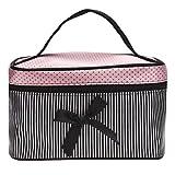 DZT1968® Makeup Square Bow Stripe Cosmetic Bag 1PC (B)