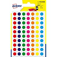 Avery España PSA08MX - Pack de 420 gomets, multicolor