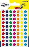 Avery Italia PSA08MX Etichette Adesive Rotonde, A6, Multicolore