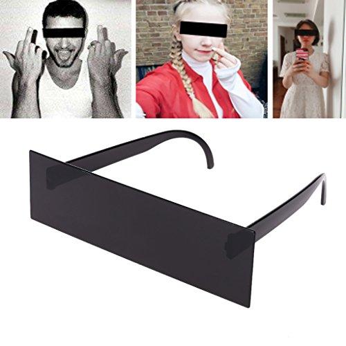 Guoyy Lustige Gadget New Unisex Thug Life Brille Deal mit IT-Sonnenbrille Lustige Schwarze Pixilated Mosaik-Sonnenbrille