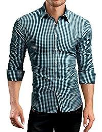 Grin&Bear coupe slim chemise à carreaux homme, SH510