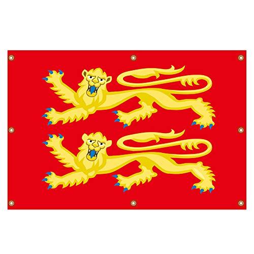 QSUM Spruchband im mittelalterlichen Stil - Old Historic England Richard Löwenherz-Flagge, 140 x 90 cm - robust genug für Innen- und Außendekoration, einzigartiges Sammlerstück