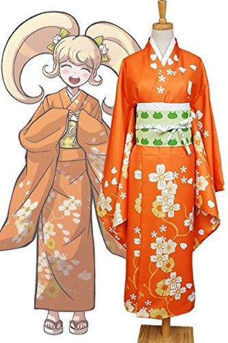 Dangan Ronpa Cosplay Kostüm - Super-Dangan Ronpa 2 Hiyoko Saionji Kimono