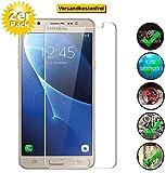 Smartphone-Equipment [2 Pack] Panzerglas für Samsung Galaxy J7 2016 Echt-Hartglas 9H, Glasfolie Schutzfolie Glas Folie Panzerfolie Bildschirm Schutz