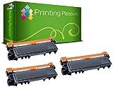 Printing Pleasure TN2320 Kit 3 Toner Compatibili per Brother DCP/HL/MFC serie, Nero