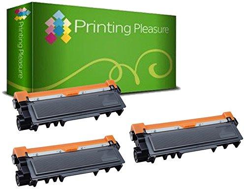 Printing Pleasure TN2320 Kit 3 Toner Compatibili per Brother HL-L2300D L2320D L2340DW L2360DN L2365DW L2380DW DCP-L2500D L2520DW L2540DN L2560DW MFC-L2700DW L2720DW L2740DW, Nero