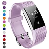 Yometome Für Fitbit Charge2 Armband, Weich TPE TPU Uhrenarmband für Fitbit Charge 2, Soft Fitness Wristband Ersatzband Armband für Fitbit Charge 2