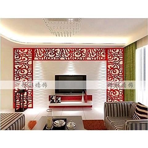 T-Mida Home,3D acrilico salotto veranda TV sfondo muro e decorazione del soffitto dipinto nuvole cristallo stereo specchio parete adesivi rimovibili,72 * 240cm