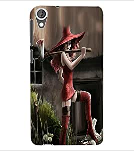 ColourCraft Beautiful Girl Design Back Case Cover for HTC DESIRE 820