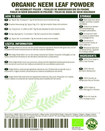 Organic Neem Leaf Powder – 500g (Certified Organic)