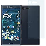 Sony Xperia X Compact Folie - 3er Set atFoliX FX-Shock-Clear stoßabsorbierende ultraklare Panzerfolie