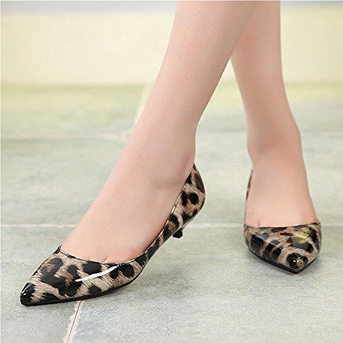 pas mal dc88d 70756 Escarpins Femme Imprimé Leopard Bouts Pointus En Cuir PU ...