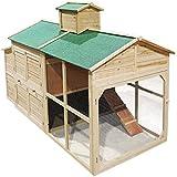 Hühnerhaus Freilauf Holz Cottage-Style Hühnerstall Käfig Auslauf
