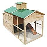 Weißes Hühnerhaus Freilauf Holz Cottage-Style Hühnerstall Käfig Auslauf