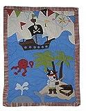 Unbekannt Patchworkdecke 80 cm * 105 cm - Pirat Junge Schiff Baby Decke Kuscheldecke Kinder Plaid Kinderdecke
