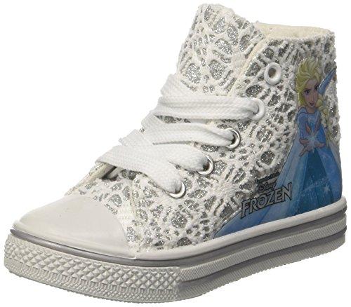 Frozen Canvas Hi, baskets montantes fille Bianco